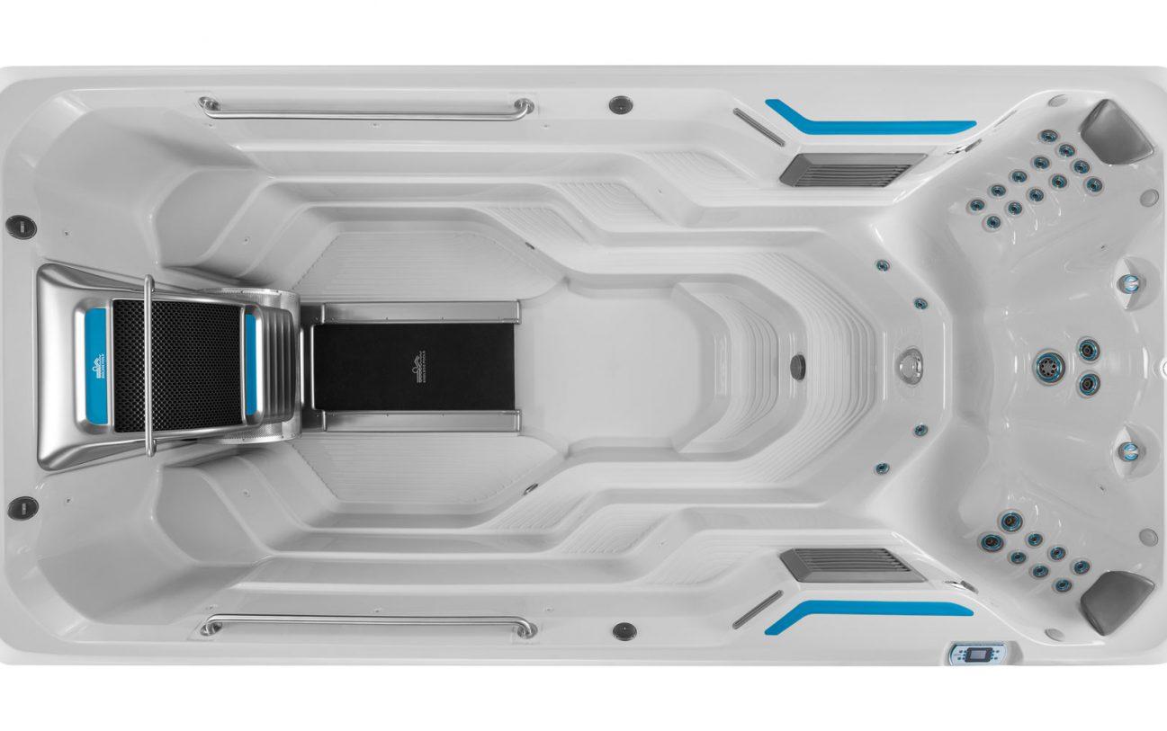 4,5 m E500 von oben in Eis Grau